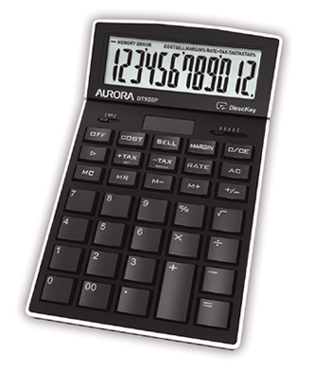Aurora DT920P calculator Desktop Display Black