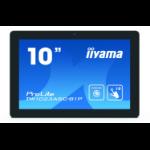 "iiyama ProLite TW1023ASC-B1P touch screen monitor 25.6 cm (10.1"") 1280 x 800 pixels Multi-touch Multi-user Black"
