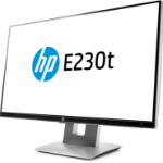 """HP EliteDisplay E230t touch screen monitor 58.4 cm (23"""") 1920 x 1080 pixels Black,Silver Multi-touch Table"""