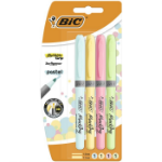 BIC Highlighter Grip Pastel marker 4 pc(s) Blue,Green,Pink,Yellow Chisel tip