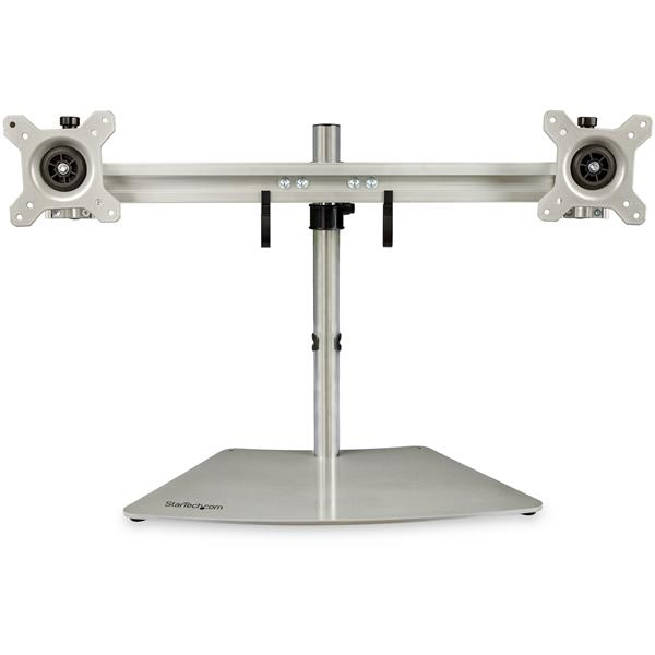 StarTech.com Base Soporte para 2 Monitores - Horizontal - Color Plata