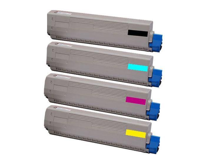Remanufactured OKI 44643002 Magenta Toner Cartridge
