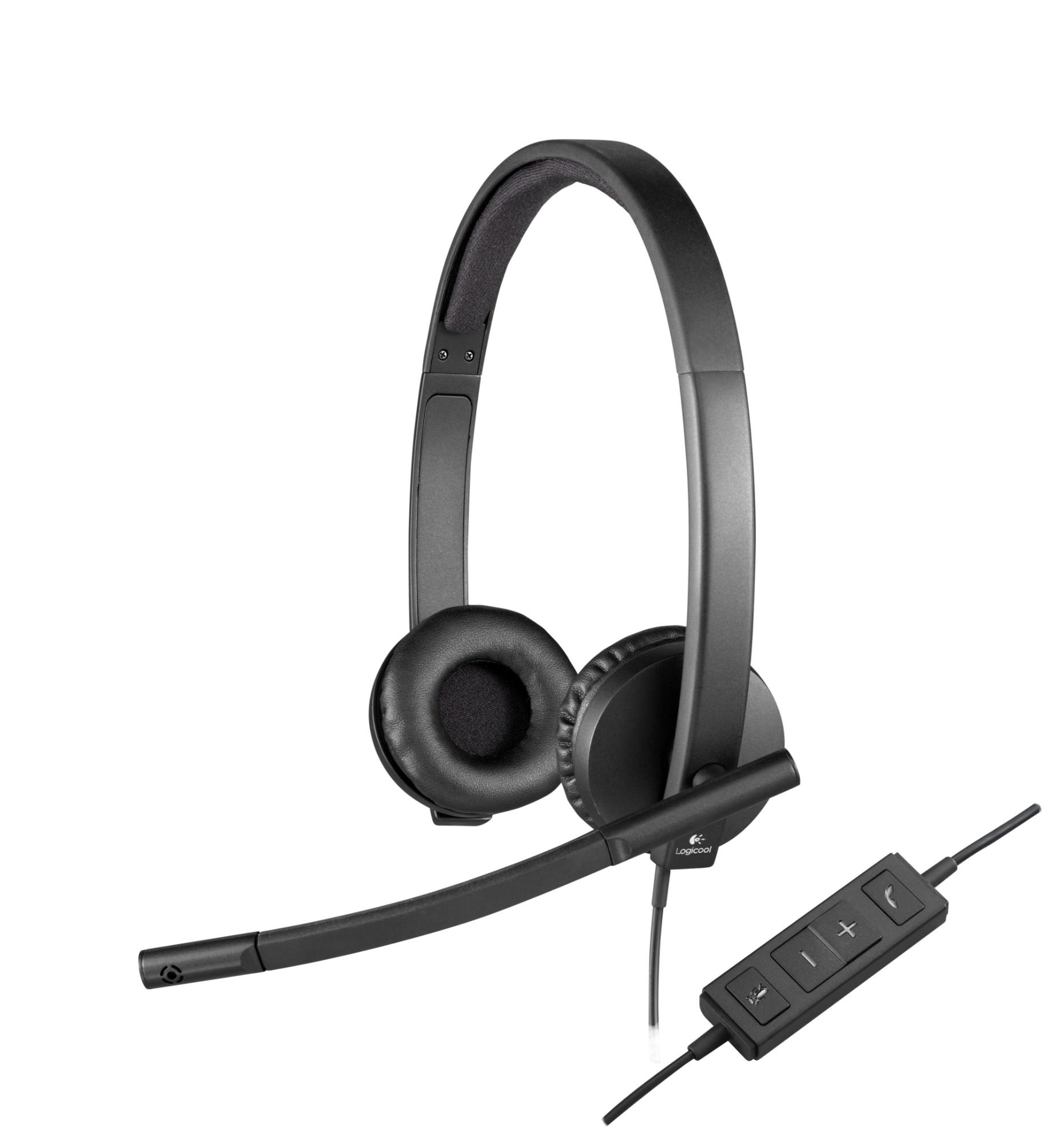 Logitech H570e Stereofonisch Hoofdband Zwart