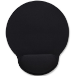 Manhattan Wrist-Rest Mouse Pad, Gel material promotes proper hand and wrist position, Black