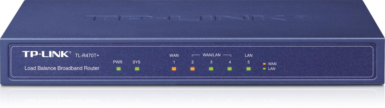 TP-LINK TL-R470T+ Ethernet LAN Blue router