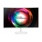 """Samsung C32H711 32"""" Wide Quad HD LED Curved White computer monitor"""