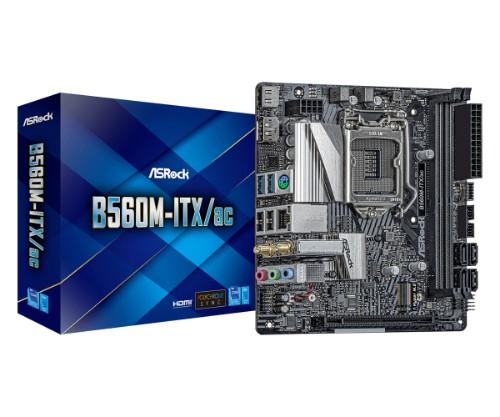 Asrock B560M-ITX/ac Intel B560 LGA 1200 mini ITX