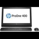 "HP ProOne 400 G3 3.9GHz i3-7100 20"" 1600 x 900Pixels Zwart Alles-in-één-pc"