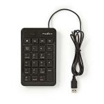 Nedis KBNM100BK numeric keypad Black