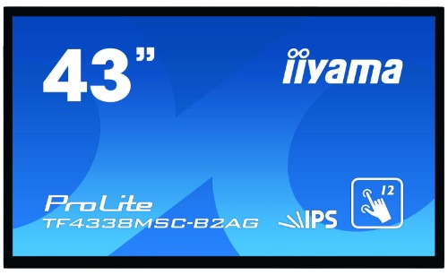 "iiyama ProLite TF4338MSC-B2AG touch screen monitor 109.2 cm (43"") 1920 x 1080 pixels Black Multi-touch Kiosk"