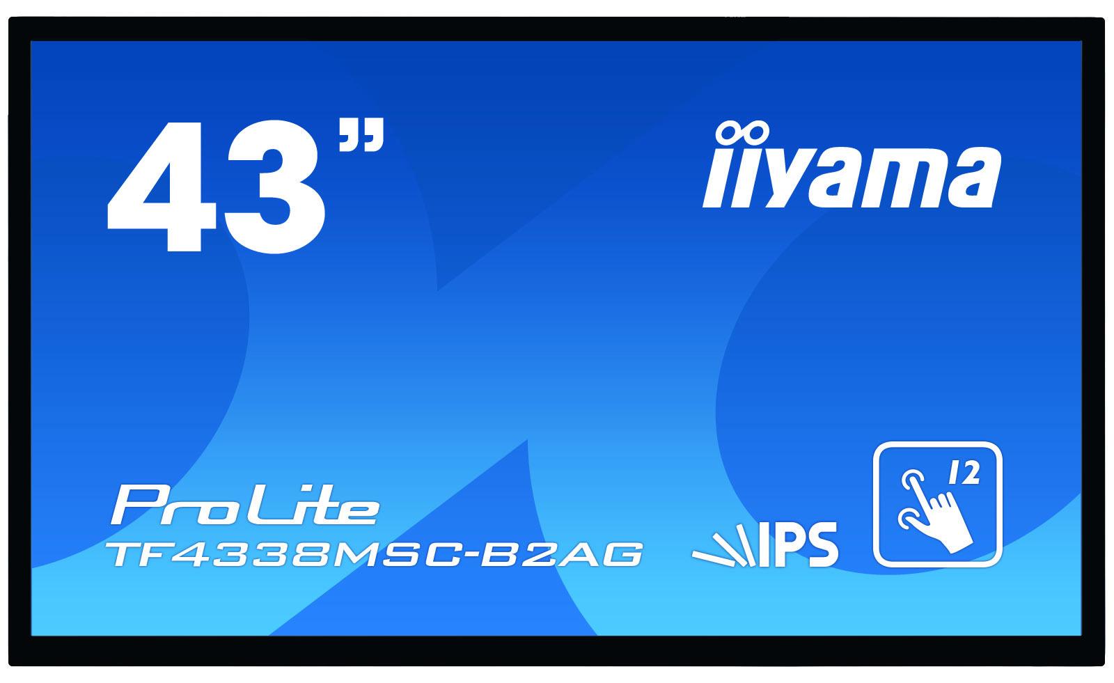 IIYAMA PROLITE TF4338MSC-B2AG TOUCH SCREEN MONITOR 109.2 CM (43