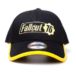FALLOUT 76 Embroidered Logo Adjustable Cap, Unisex, Black/Yellow (BA555246FAL)