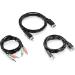 Trendnet TK-CP06 cable para video, teclado y ratón (kvm) 1,83 m Negro