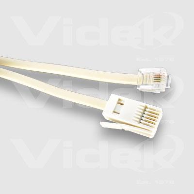 Videk RJ11 6P/4C M to UK Style M Modem Cable 2 Core 3m