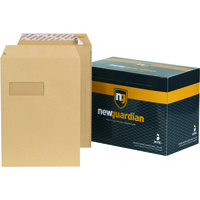 New Guardian Envelopes Heavyweight Pocket Peel and Seal Window Manilla C4 [Pack 250]