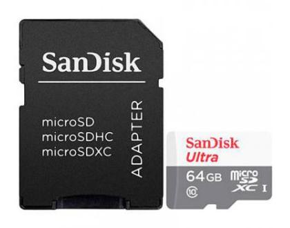 SanDisk 64GB Ultra microSDXC memoria flash Clase 10