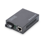 Digitus DN-82123 network media converter 1000 Mbit/s 1550 nm Single-mode Black