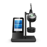 Yealink WH66 Dual UC DECT Wirelss Headset With Touch Screen, Busylight On Headset, Leather Ear Cushions