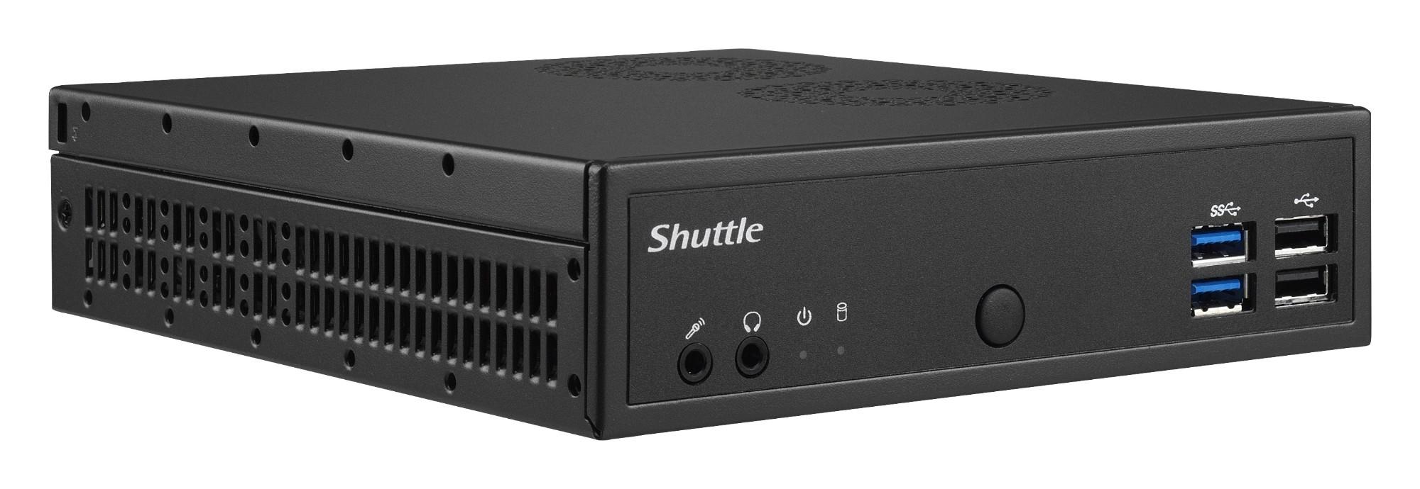 Shuttle XPÐ¡ slim DH02U BGA 1356 1.8GHz 3865U Black PC/workstation barebone