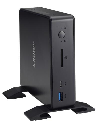 Shuttle XPC nano NC03U3 PC/workstation barebone i3-7100U 2.40 GHz Nettop Black Intel SoC BGA 1356