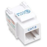 Intellinet Keystone Jack, Cat6, UTP, Punch-down, White