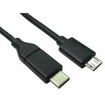 Cables Direct USB3C-861 USB cable 1 m USB 2.0 USB C Micro-USB B Black