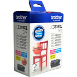 BROTHER LC3319XL3PK COLOUR PACK HIGH YIELD 1500 PAGES CYAN MAGENTA YELLOW