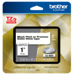 Brother TZEM251 label-making tape Black on white TZe
