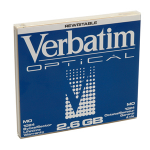 "Verbatim MO Disk 2,6GB 5.25"" 5.25"" magneto optical diskZZZZZ], 91204"