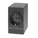 Extron 70-738-01 outlet box Type F Black