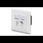 Digitus CAT 6A Class EA network outlet, design compatible, shielded, surface mount