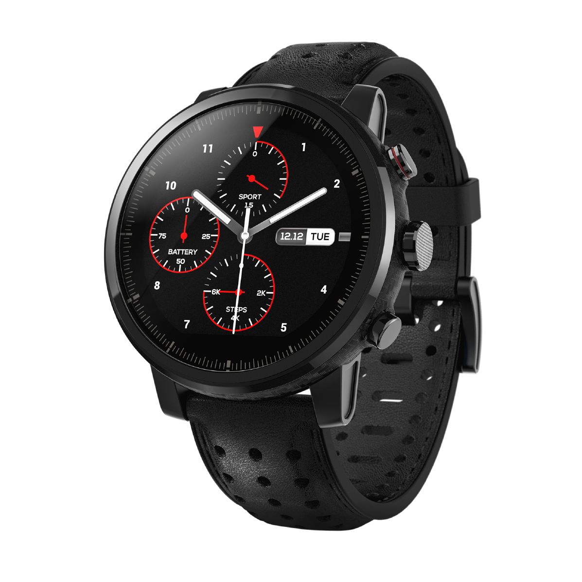 "Xiaomi Amazfit Stratos+ smartwatch Black LCD 3.4 cm (1.34"") GPS (satellite)"