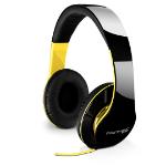 Fantec SHP-250AJ headphone Circumaural Head-band Black, Yellow