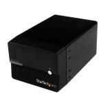 "StarTech.com Caja Disco Duro Externo 2 Bahías de 3,5"" SATA III USB 3.0 UASP RAID JBOD eSATA con Ventilador - Negro"