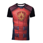 Marvel Guardians of the Galaxy Rocket Raccoon Sublimation T-Shirt, Male, Small, Multi-colour (TS737122MVL-S