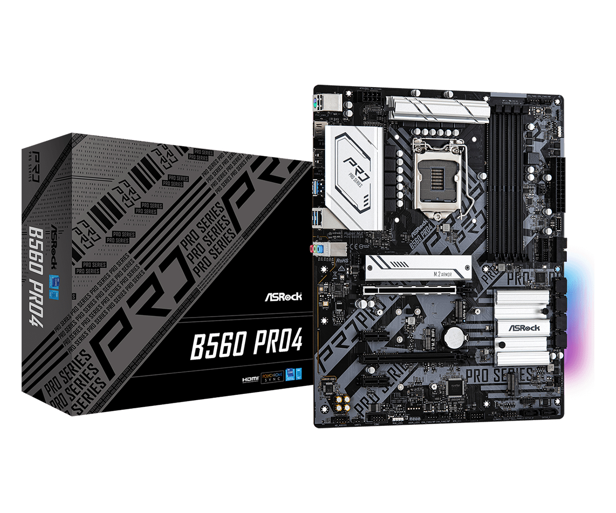 Asrock B560 Pro4 Intel B560 LGA 1200 ATX
