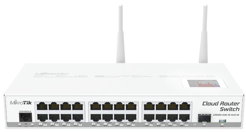 Mikrotik CRS125-24G-1S-2HND-IN Dual-band (2.4 GHz / 5 GHz) Gigabit Ethernet wireless router