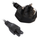 V7 Black Power Cable IEC-C5 to UK Type G 2m 6.6ft
