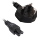 V7 NOTEBOOK POWER CABLE UK PLUG TO IEC-C5 3PIN M/M 2m