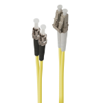 ALOGIC 1m LC-ST Single Mode Duplex LSZH Fibre Cable 09/125 OS2