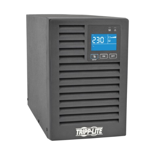 Tripp Lite UPS Smart Online 1000VA 900W 220/230/240V Double-Conversion, Extended Run, Network Card Options, LCD, USB, DB9, Tower