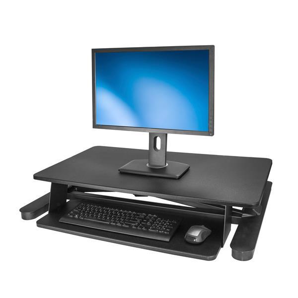 Startech Com Sit Stand Desk Converter With 35 Work