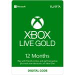 Microsoft XBOX Live Gold 12 Months Membership Card
