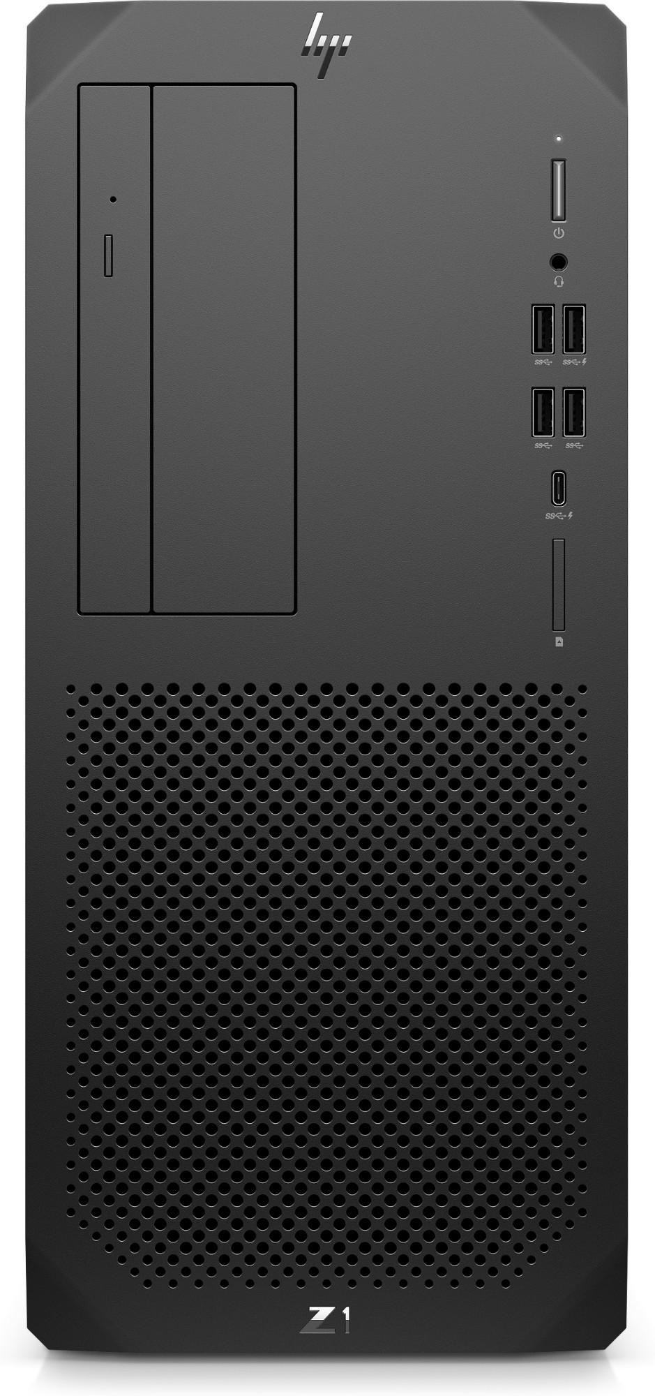 HP Z1 G6 DDR4-SDRAM i7-10700 Tower 10th gen Intel-� Core��� i7 16 GB 512 GB SSD Windows 10 Pro for Workstations Workstation Black