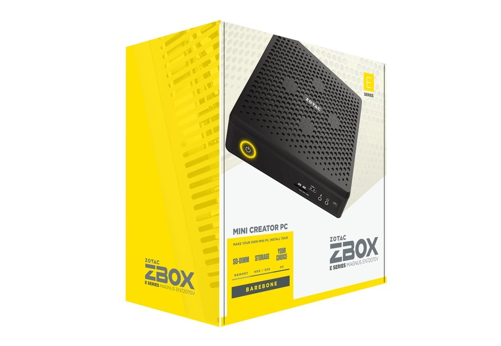 Zotac ZBOX MAGNUS EN72070V 9th gen Intel Core i7-9750H 8 GB DDR4-SDRAM 1000 GB Black Mini PC ZBOX-EN72070V-BE/1TBNVME/8GB