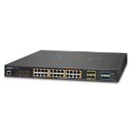 Planet GS-5220-24PL4X network switch Managed L2+ Gigabit Ethernet (10/100/1000) Black 1U Power over Ethernet (PoE)