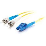 C2G 85542 3m LC ST OFNR Turquoise fiber optic cable