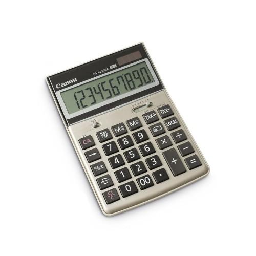 Canon HS-1200TCG Desktop 12 Digit LCD Display Calculator 2500B004 - Gold Grey