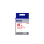 Epson LK-5WRN Label Etikette Rot aud Weiss