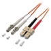 Lindy 10m 2x LC - 2x SC OM2 M/M 10m LC SC Orange fiber optic cable